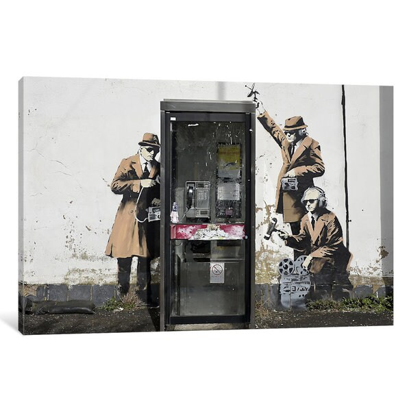 iCanvas Spy Booth by Banksy Canvas Print