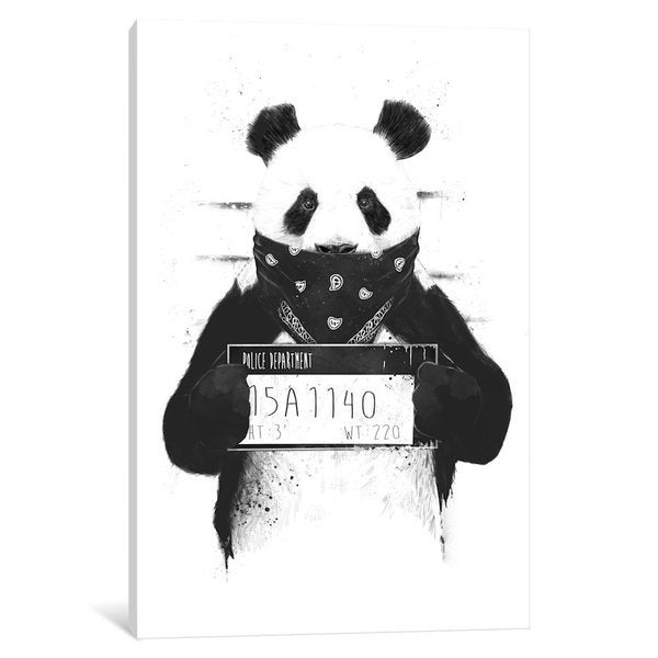iCanvas Bad Panda by Balazs Solti Canvas Print