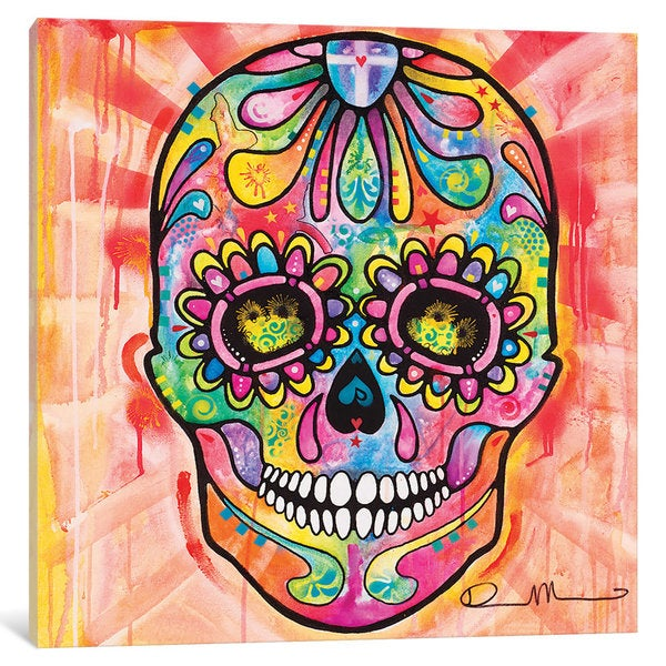 iCanvas Sugar Skull - Day of the Dead by Dean Russo Canvas Print