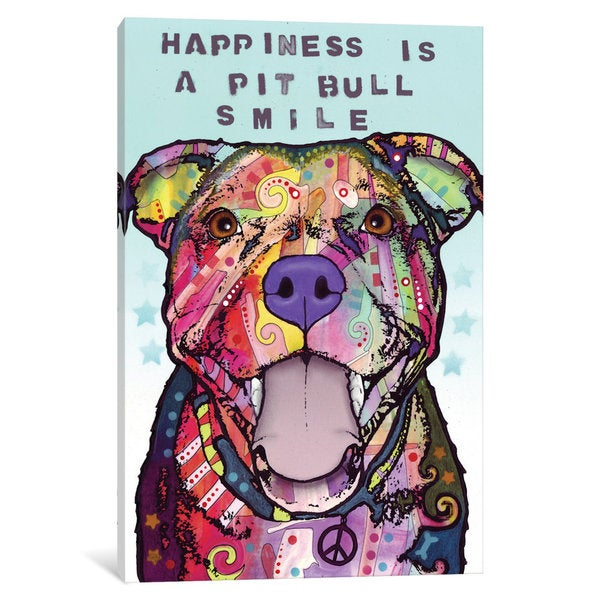 iCanvas Smile by Dean Russo Canvas Print