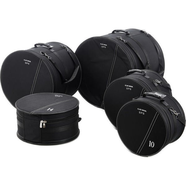 Gewa 232600 SPS Series Black Cordura Jazz Drum Set Gig Bags