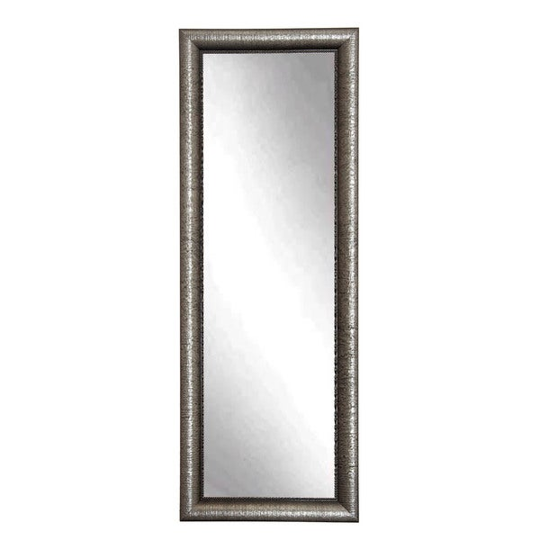 Silver Metallic Floor Mirror