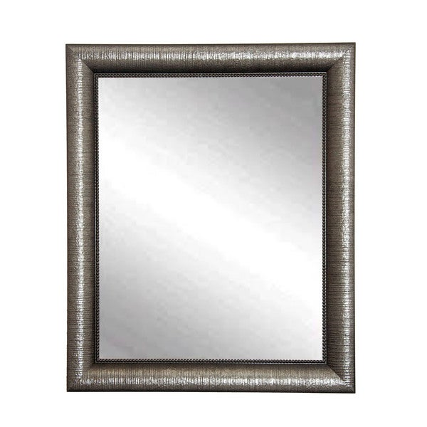 Silver Metallic Wall Mirror
