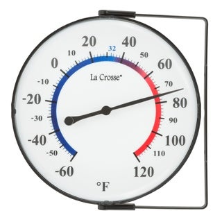 """La Crosse 104-105 5"""" Dial Thermometer with Mounting Bracket"""