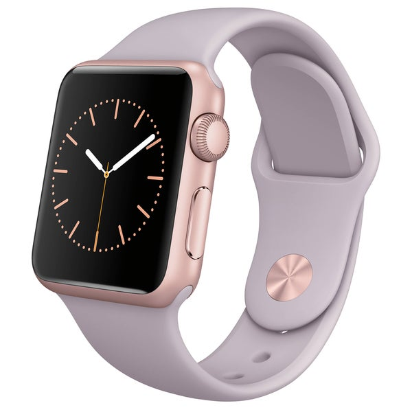 Apple Watch 38mm Rose Gold Aluminum Case with Lavender Sport Band (Certified Refurbished)