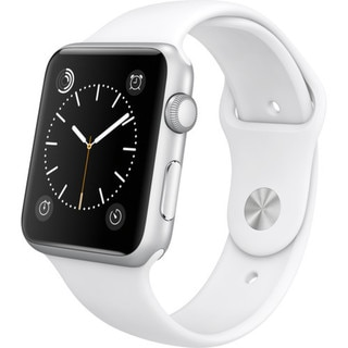 Apple Watch 42mm Silver Aluminum Case with White Sport Band (Certified Refurbished)