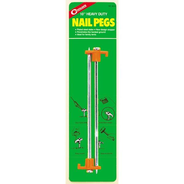 """Coghlans 8310 2 Pack 10"""" Steel Nail Pegs"""