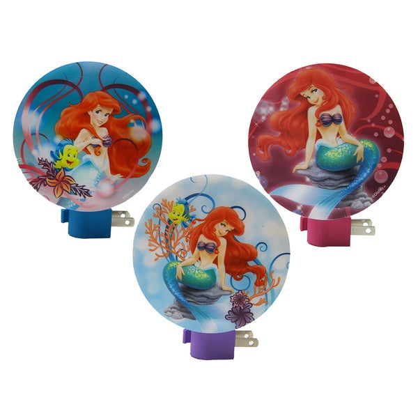 Ariel Little Mermaid Wall Night Lights (3-pack)