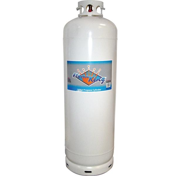 Flame King YSN-100 100 lb Propane Cylinder Tank