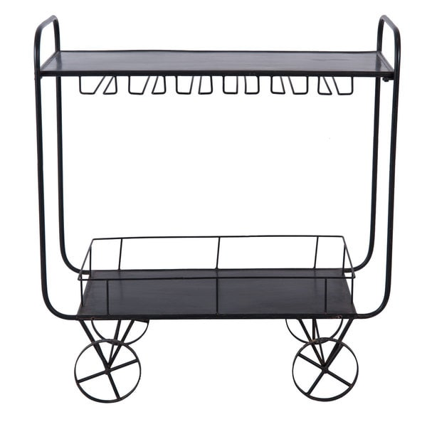 Avonlea Black Metal Bar Cart