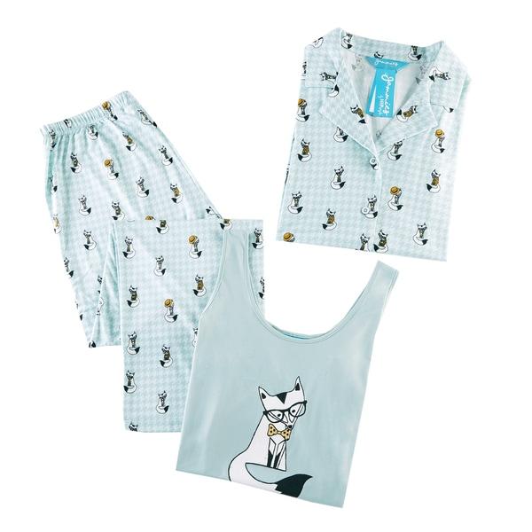 HipStyle Freida Mint 3-piece Pajama Set