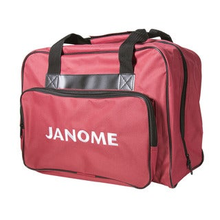 "Janome Sewing Machine Tote Bag in Red with Embroidered Logo - 9'6"" x 13'6"""