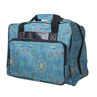 "Janome Sewing Machine Tote Bag in Green Paisley Print - 9'6"" x 13'6"""