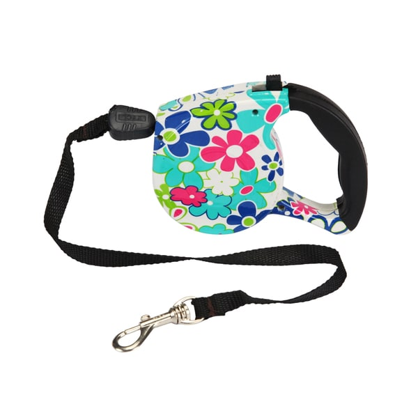 LucyBelle Pets Multicolor Nylon Retractable Pet Leash
