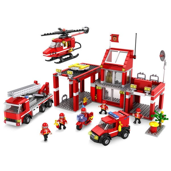 Dimple MiniBricks DC11665 Firefighters Blocks Set (827+ Pieces)