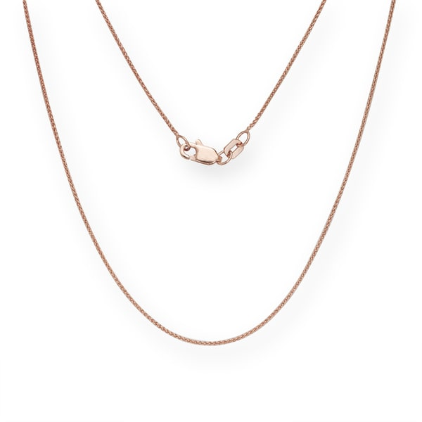 10K Rose Gold Lobster Clasp Classic Box Chain
