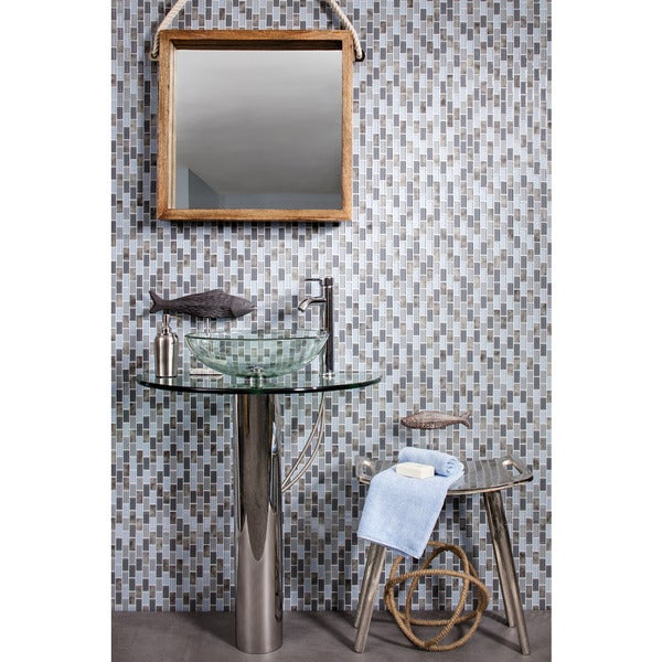 Tides Grey Mosaic Tile (Set of 5)