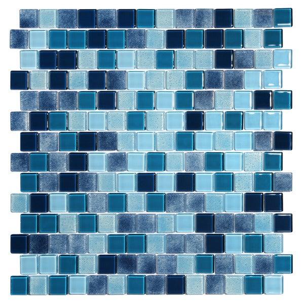 Tides Blue Glass Mosaic Tiles