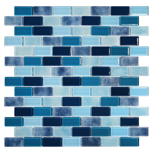 Tides Blue Glass Mosaic Tile