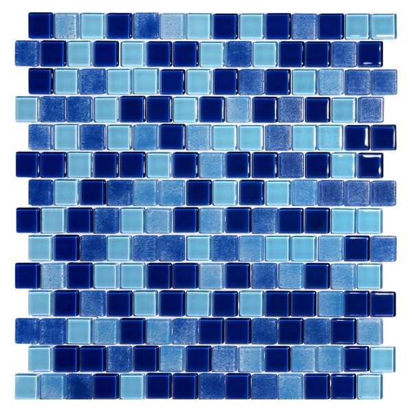 Tides Deep Blue Mosaic Tiles