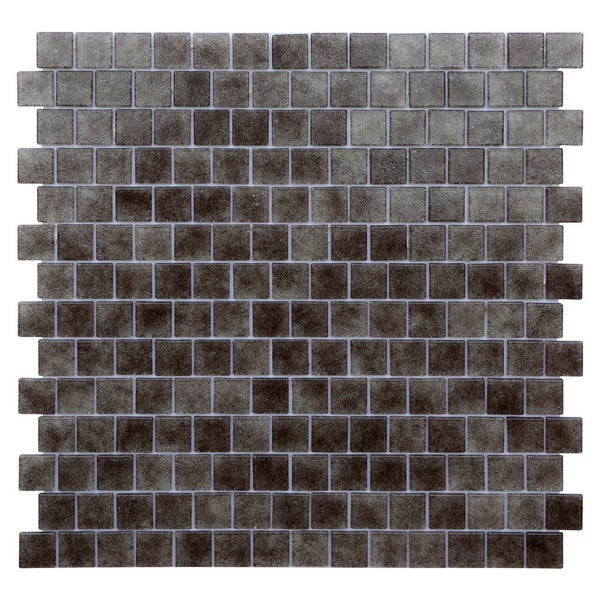 Quartz Smokey Topaz Grey Glass Mosaic Tiles