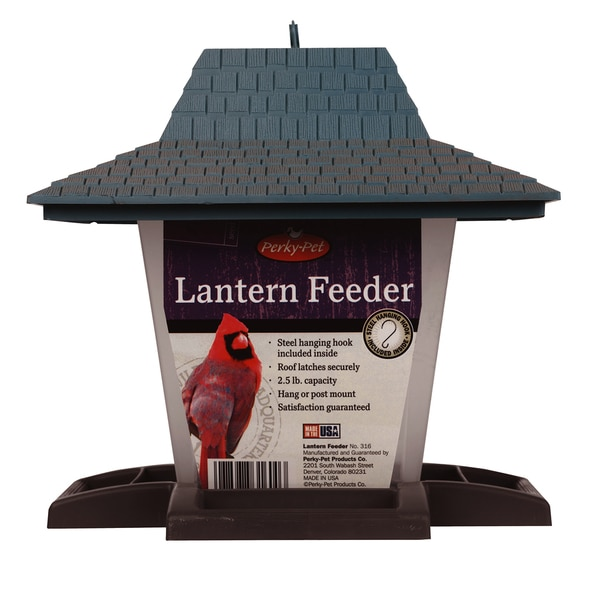 Perky Pet 2.5 Lb Capacity Lantern Bird Feeder Assorted Colors