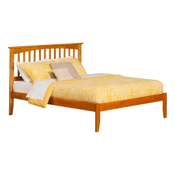 Mission Brown Wood King-sized Open-foot Platform Bed