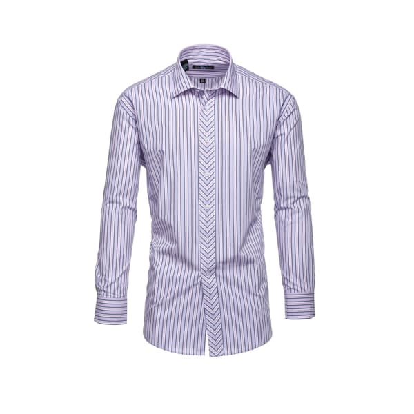 Steve Harvey Pink And Light Blue Striped Dress Shirt