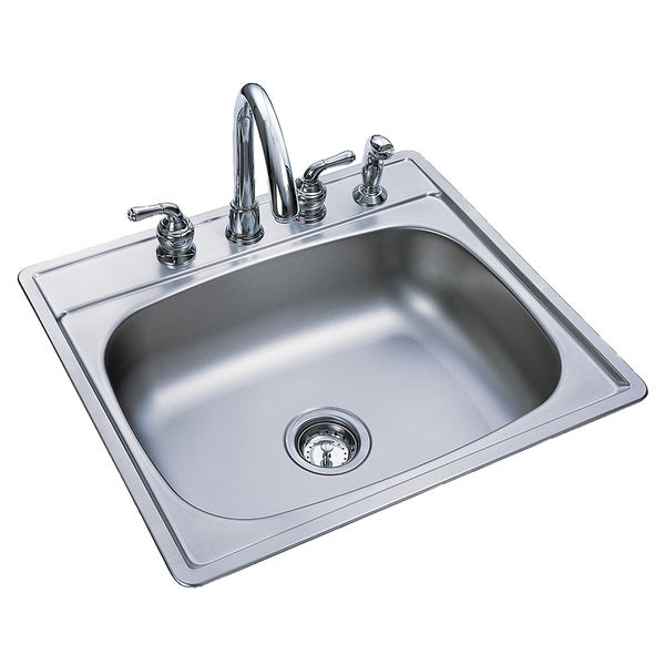 "Fhp FSS704N 7"" Stainless Steel Single Bowl Topmount Sink"