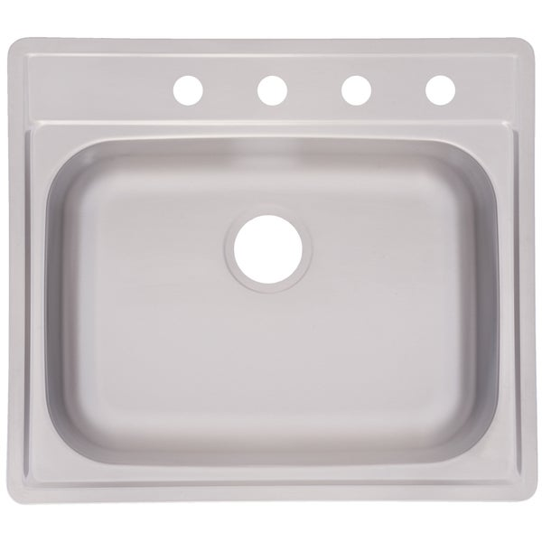 "Fhp FSS804N 8"" Stainless Steel Single Bowl Topmount Sink"