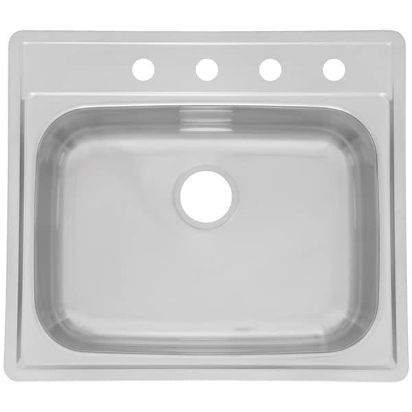 "Fhp SSK854NB 25"" X 22"" X 8"" Stainless Steel Single Sink"