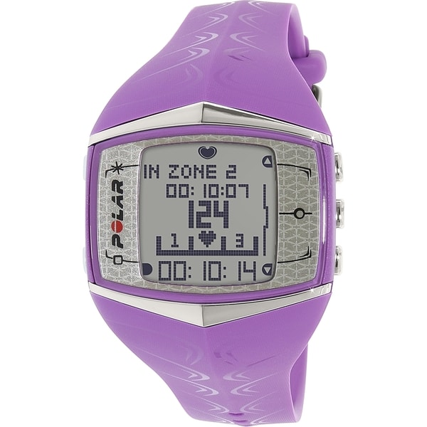 Polar Women's Heart Rate Monitor FT60F-LIL Purple Rubber Quartz Watch