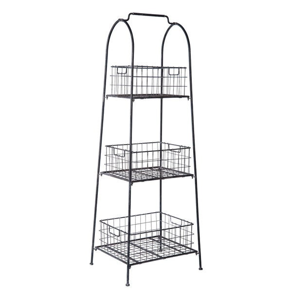 Wire Basket Natural Display Shelf