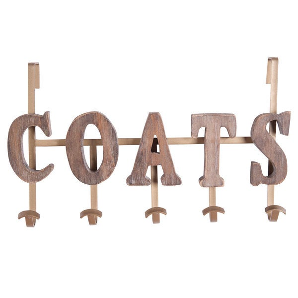 Coats' Beige Wood Vintage-style Coat Hook