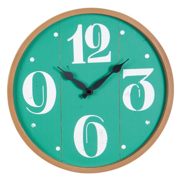Rincon Green Wood Wall Clock