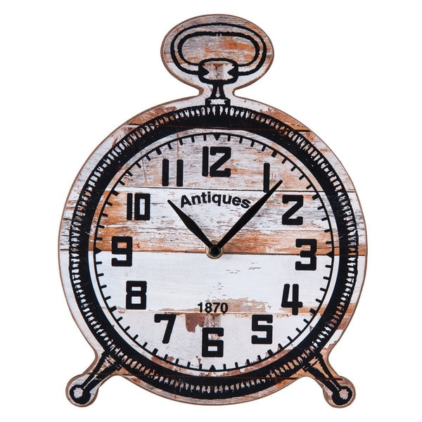 Savannah White Tabletop Clock
