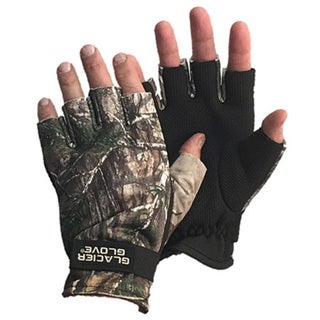 Glacier Men's Realtree Camo Fleece-lined Midweight Fingerless Hunting Gloves