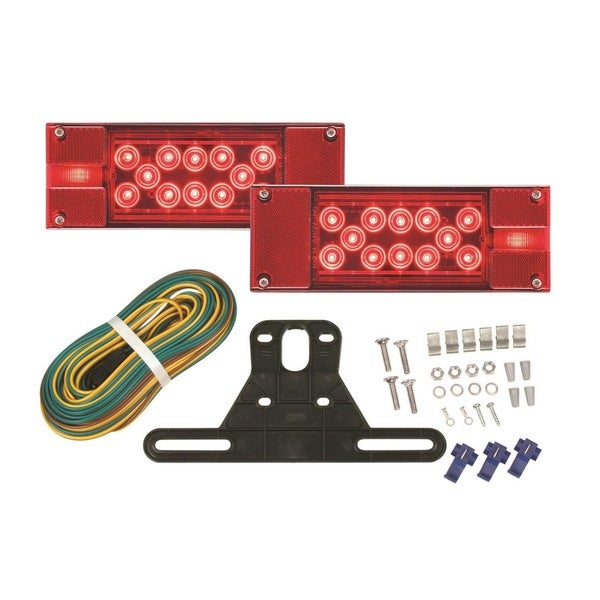 Optronics Red Acrylic Low-profile LED Combination Taillight Kit