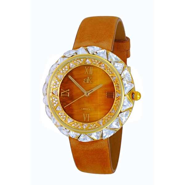 Womens Exotic Stone and Crystal Watch by Adee Kaye