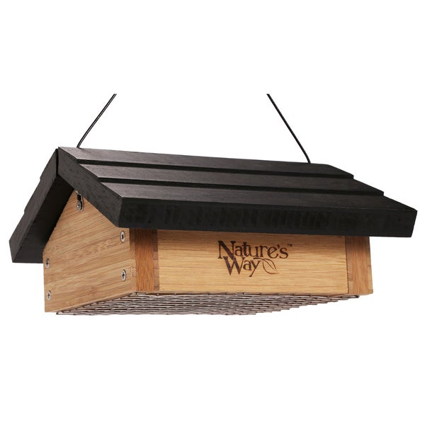 Nature's Way 2 Suet Cake Bamboo Upside Down Suet Feeder