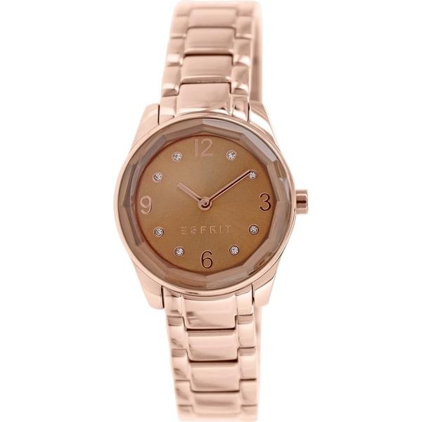 Esprit Women's ES106552006 Rose Gold and Stainless Steel Analog Quartz Watch