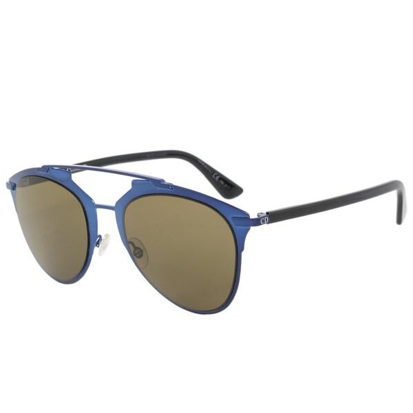 Christian Dior Reflected Sunglasses M2XA6 Blue/Black Frame Brown Lens
