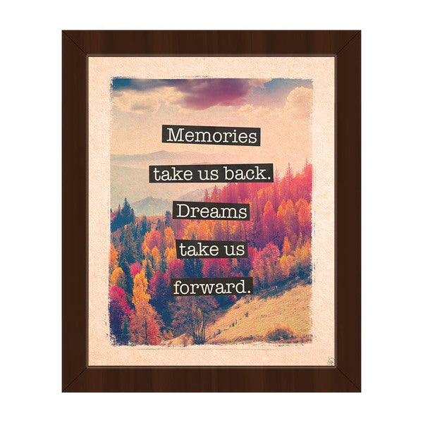 Dream Forward' Framed Canvas Wall Art 21035013