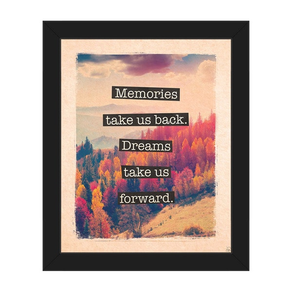 Dream Forward' Framed Canvas Wall Art 21035016