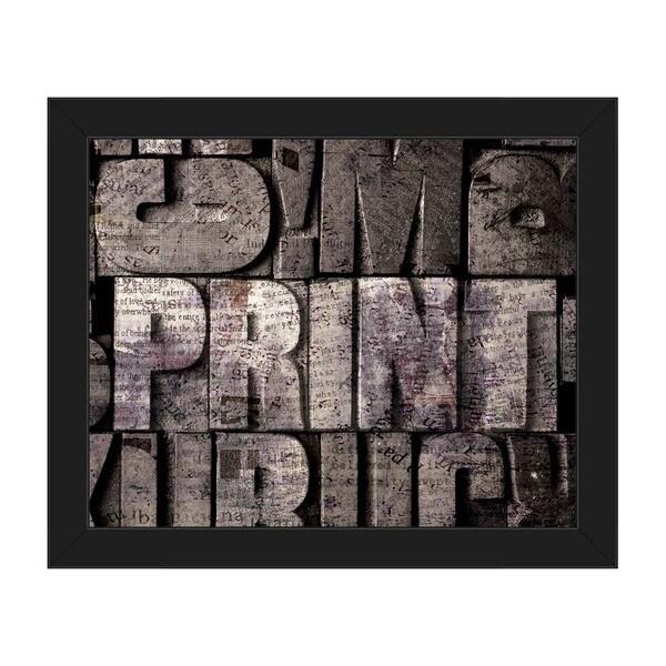 Black/White Box Print Framed Canvas Wall Art