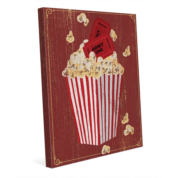 Popcorn With Admission Canvas Wall Art