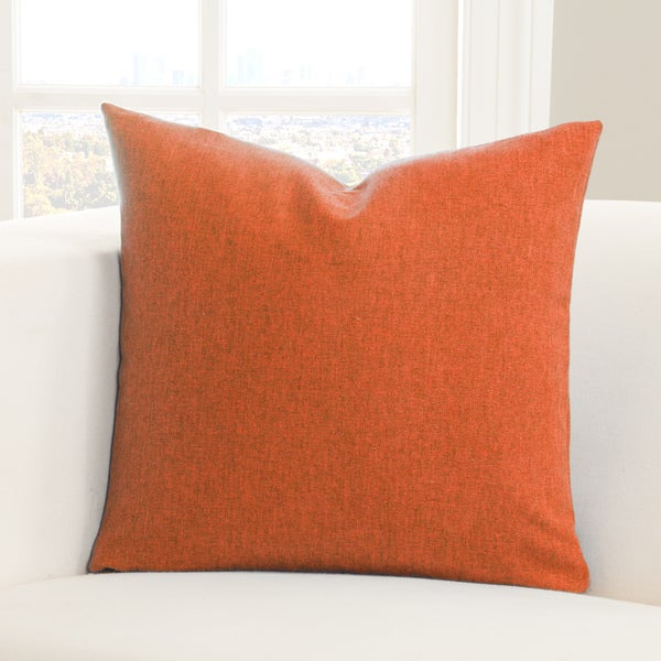SIScovers Woolly Blue/ Orange Polyester Accent Pillow
