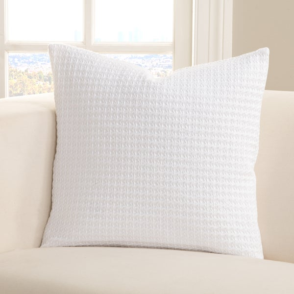 SIScovers Resort Wear White Cotton Accent Pillow