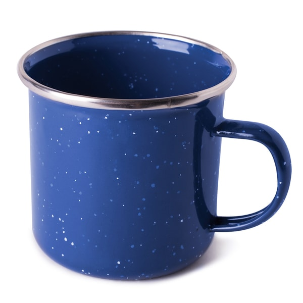 "Stansport 15985 7.25"" Enamel Coffee Mug Assorted Colors"