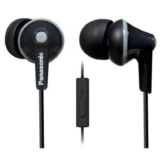 Panasonic ErgoFit In-Ear Earbuds Noise Isolating Headphones with Mic/Controller (Black)